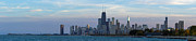 Sky Line Art - Chicago Skyline at Dusk by Twenty Two North Gallery