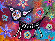 Day Of The Dead Paintings - Chihuahua Day Of The Dead by Pristine Cartera Turkus