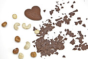 Biscuit Posters - Chocolate heart Poster by Joana Kruse