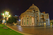 Boston Nights Posters - Christian Science Center-Boston Poster by Joann Vitali