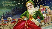 Saint Nicholas Paintings - Christmas Card by American School
