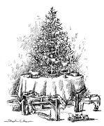 Christmas Eve Metal Prints - Christmas Tree Metal Print by Granger