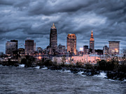 Terminal Photos - Cleveland Skyline at Dusk from Edgewater Park by At Lands End Photography