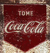 Rusty Coke Sign Posters - Coca Cola Classic Vintage Rusty Sign Poster by John Stephens