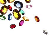Sparkle Jewelry Prints - Colorful Gems Print by Setsiri Silapasuwanchai