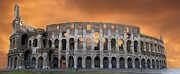 Outdoor Theater Metal Prints - Colosseum. Rome Metal Print by Bernard Jaubert