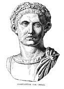Statue Portrait Photo Prints - CONSTANTINE I (d. 337) Print by Granger