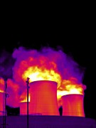 False Power Framed Prints - Cooling Towers, Thermogram Framed Print by Tony Mcconnell
