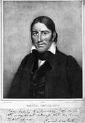 Autograph Art - Davy Crockett (1786-1836) by Granger