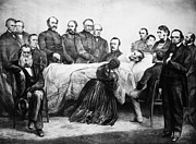 Mary Todd Lincoln Prints - Death Of Lincoln, 1865 Print by Granger
