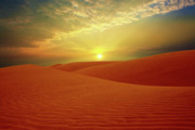 Sahara Sunlight Photo Framed Prints - Desert Framed Print by MotHaiBaPhoto Prints