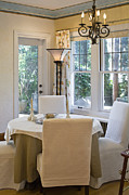 Linens Prints - Dining Room Print by Andersen Ross