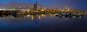 Panoramic Marina Framed Prints - Downtown Chicago from Burnham Harbor Framed Print by Twenty Two North Photography