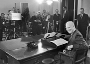 Dwight Eisenhower Prints - Dwight D. Eisenhower Print by Granger