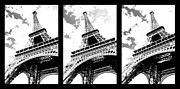 Cloudy Prints - Eiffel tower Print by Elena Elisseeva