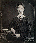 Famous Person Portrait Prints - Emily Dickinson, American Poet Print by Photo Researchers