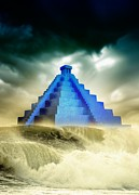 Mayan Mythology Metal Prints - End Of The World In 2012 Conceptual Image Metal Print by Victor Habbick Visions