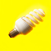 Edison Posters - Energy-saving Light Bulb Poster by Mark Sykes