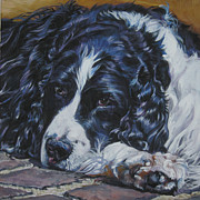 Springer Spaniel Paintings - English Springer Spaniel by Lee Ann Shepard