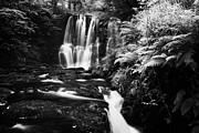 Flooding Prints - Ess-na-crub Waterfall On The Inver River In Glenariff Forest Park County Antrim Northern Ireland Uk Print by Joe Fox