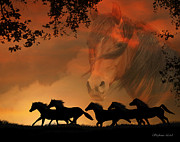 Horse Herd Photo Prints - 4-ever Free Print by Stephanie Laird