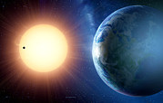 Planetary System Photos - Extrasolar Planet Gliese 581c, Artwork by Detlev Van Ravenswaay