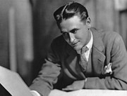 1925 Prints - F. Scott Fitzgerald Print by Granger