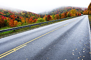 Autumn Scene Photos - Fall color along the Highland Scenic Highway by Thomas R Fletcher