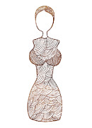 Haute Couture Prints - Fashion sketch Print by Frank Tschakert