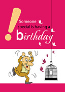Friendly Digital Art - Funny Happy Birthday by Baker  Alhashki