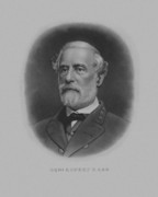 Military Hero Drawings Prints - General Robert E. Lee Print by War Is Hell Store