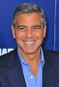 Clooney Photo Framed Prints - George Clooney At Arrivals For The Ides Framed Print by Everett