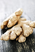 Natural White Posters - Ginger root Poster by Elena Elisseeva