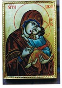 Orthodox Painting Originals - Godmother with Child by Jelio Jelev