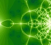 Green Fractal Print by Odon Czintos