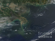 Oil Slick Art - Gulf Oil Spill, April 2010 by Nasa