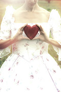 Elizabethan Posters - Heart Poster by Joana Kruse
