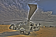 Pods Framed Prints - High Dynamic Range Photo Of An  Ah-64d Framed Print by Terry Moore