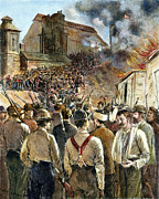 Mob Prints - Homestead Strike, 1892 Print by Granger