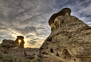 Hoodoo Prints - Hoodoo Badlands Alberta Canada Print by Mark Duffy