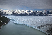 Mountain Prints - Hubbard Glacier Encroaching On Gilbert Point Print by Matthias Breiter