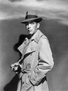 Trench Coat Framed Prints - Humphrey Bogart (1899-1957) Framed Print by Granger