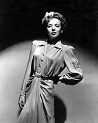 Shoulder Pads Posters - Ida Lupino, Portrait Poster by Everett