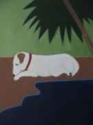 Sandra McHugh - Jack Russell at the Beach