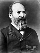 Rights Of Man Framed Prints - James A. Garfield, 20th American Framed Print by Photo Researchers