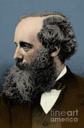 Clerk Posters - James Clerk Maxwell, Scottish Physicist Poster by Science Source