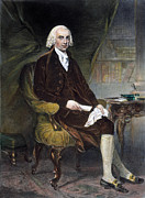Cravat Metal Prints - James Madison (1751-1836) Metal Print by Granger