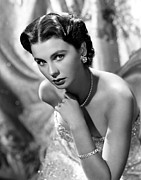 Bare Shoulder Framed Prints - Jean Simmons, Portrait Framed Print by Everett