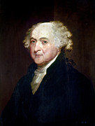 Cravat Metal Prints - John Adams (1735-1826) Metal Print by Granger