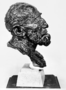 Portrait Sculpture Photograph Prints - Joseph Conrad (1857-1924) Print by Granger